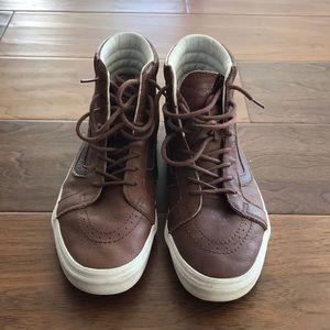 Men's leather vans sk8 hi tops